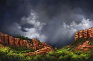 Thunderstorm in Sedona - New Painting